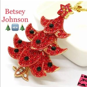 Betsey Johnson Holiday Pendant Necklace🎄🆕